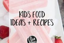 Kid's Food // Recipes + Meal Ideas / Breakfast, lunch, dinner, and snack ideas for kids.