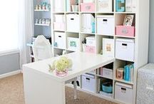 Office // Work Space Ideas / Office decor and organization ideas.