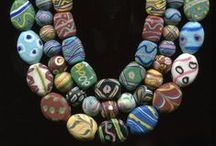 Venetian Fancy Glass Beads / Collections of beautiful Edwardian lampwork glass beads from Venice!
