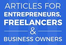 Articles for entrepreneurs, freelancers and start-ups / Helpful information, articles and opinions for those taking the leap from full-time employment to freelancing or starting their own company. Follow your dreams and be strong, fellow entrepreneur, you can do it!