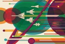 NASA JPL Vintage Spce Travel Posters / We can make any of these beautiful NASA Travel Posters into a unique Wooden Poster for 45.00€.