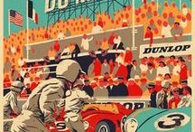 Vintage Car Race Posters / We can make any of these beautiful Vintage Automobile posters into a unique Wooden Poster for 45.00€.