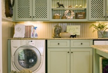 Craft/Laundry Room Ideas / My Laundry Room and Craft Room is all-in-one so I have to combine the ideas in a small space. / by Gail Olds