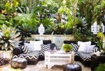 Home Decor - Outdoor inspiration / Make your patio/balcony the perfect spot for those lovely summer evenings.