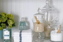 Home Decor - Bathroom / Utilitarian doesn't have to mean plain or ugly! Here are some useful tips to make even small bathroom a little more awesome.