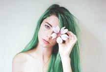 Inspiration - Coiffures / De jolies coiffures, des couleurs en pagaille..