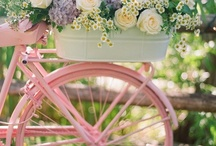 Bicycles  / Any bicycles especially draped with florals.  What fun to take a ride or display in your garden. / by Gail Olds