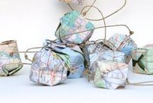 Map Crafts / Fun with maps.