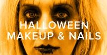 HALLOWEEN MAKEUP + NAILS / Halloween nail art and makeup ideas to inspire your DIY costume this year.