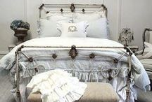 BEDS, BED ROOMS, AND BOUDOIRS / by Debbie Dumont