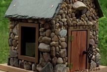 BIRD HOUSES, BIRD BATHS, BIRD FEEDERS & BIRD CAGES / by Debbie Dumont