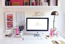 home | office space / decoration, organization, & design of home office spaces  / by * Jennifer *