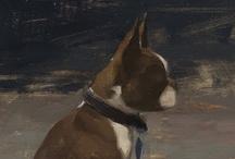 Animal Dog Art / Dog Paintings that Bark at me!  Custom Dog Portraits tamforee.etsy.com