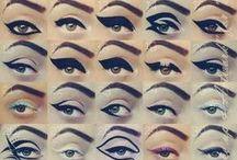 eyeliner and bangs