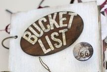 My BUCKET List! / Things I want to do, places I want to go and people I would love to meet or hear before I >>>>>>> ! / by Karen Barnett