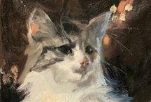 Animal Cat Art #2 / Custom Dog and Pet Portraits  tamforee.etsy.com