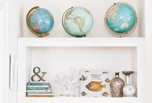 home | display / put things on display - how to decorate shelving spaces   / by * Jennifer *