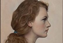 Profile of Head Art / Ohhhh, love me some side view profile of a head!