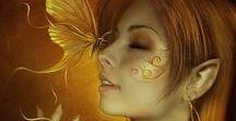 Elfos e fadas / Elfo é uma criatura mística da mitologia nórdica e céltica, que aparece com frequência na literatura medieval europeia. São descritos como seres belos e luminosos, ou ainda seres semi-divos, mágicos, semelhantes à imagem literária das fadas ou das ninfas.  Os elfos são geralmente mostrados como jovens de grande beleza vivendo entre as florestas, sob a terra, em fontes e outros lugares naturais. Seres sensíveis, de longa vida ou imortalidade, com poderes mágicos e grande ligação com a natureza