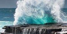 Fotos do mar / Grande extensão de água salgada. O mar ocupa uma grande parte da superfície da Terra.