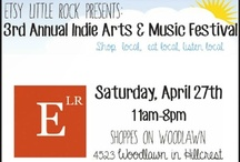 ELR 3rd Annual Indie Arts and Music Festival / These Etsy artists will be on site at the festival this year! For more information, visit this event link https://www.facebook.com/events/161544747335441/