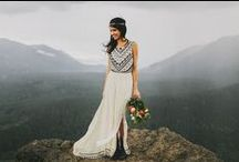 Inspiration: Weddings / A constant fluctuation of southwestern, winter, and alpaca inspired wedding ideas.