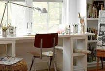 Inspiring workspaces / I get my work done on a folding table and a beat-up chair, so any of these work spaces would be a dream come true.