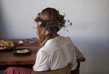 head wreaths and hair flowers