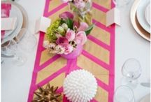 D i n i n g / P a r t y / Table settings, dinner party and decorations.