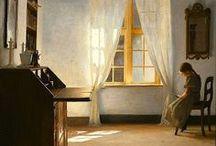 Deense school:Vilhem Hammershoi-Peter Ilsted- / (1864-1916) Deens school