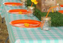 Handmade Cans - table setting ideas / Table setting