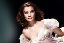 """Vivien Leigh / (5 .11. 1913 – 8 July 1967) was a British stage and film actress. She won two Best Actress Academy Awards for her performances as """"southern belles"""": Scarlett O'Hara in Gone with the Wind (1939) and Blanche DuBois in the film version of A Streetcar Named Desire (1951), a role she had also played on stage in London's West End in 1949. She won a Tony Award for her work in the Broadway version of Tovarich (1963). / by Mayra Elisa Portillo"""