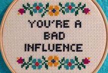 Stitchin' / Cross-stitch and embroidery / by Lynz