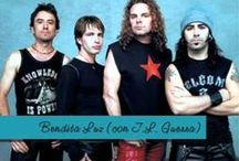 Mana / Maná is a Mexican rock band from Guadalajara, Jalisco. The group's current line-up consists of vocalist/guitarist Fher Olvera, drummer Alex González, guitarist Sergio Vallín, and bassist Juan Calleros. Considered the biggest Latin rock band in the world ,[citation needed] Maná has earned four Grammy Awards, seven Latin Grammy Awards, five MTV Video Music Awards Latin America, six Premios Juventud awards, fourteen Billboard Latin Music Awards and fifteen Premios Lo Nuestro awards. / by Mayra Elisa Portillo