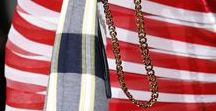 Color combos: RWB / Popular for flags - and clothing - the world over.