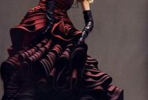 Style: creepy/luxe / Goth gone high-end