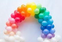 Rainbow Party Props & Ideas
