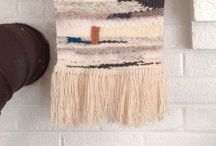 my wall hangings. / Woven wall hangings made by hand in my home nestled at the base of the Blue Ridge Mountains.