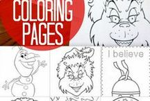 Coloring pages (winter, holiday)