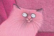 Katzen   Bilder, Illustrationen