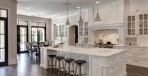 ♥♥♥ Kitchens - The Heart of the Home ♥♥♥ / Beautiful kitchens - the heart of the home!  To me this is the most important room in the house next to the master bedroom.