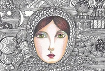 Zentangle, Drawing and Coloring / by Kathy Oldenburg