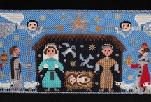 Nativities / I collect nativities and have many of them. Here you'll find pictures of the ones I own, the ones I have to stitch, and the ones I'd like to get. Plus some of my other Holy Family related art.