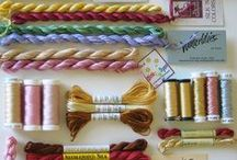 Threads / threads and yarns of all kinds, suitable for needlepoint.