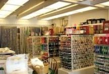 Needlepoint Shops / pictures of needlepoint shops in the United States,  France, Canada, and England.