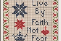 charts - Easter & Christian / Free charts for Easter and of religious items, using whole stitches that can be stitched in cross stitch, needlepoint, charted knitting, or beading.