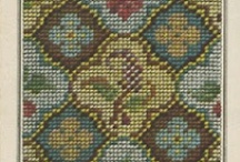 Charts - Vintage, Squares & Biscornu / Free charts from vintage publications, including Berlinwork, using whole stitches that can be stitched in cross stitch, needlepoint, charted knitting, or beading.
