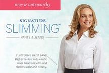 Signature Slimming™ / Our Signature Slimming™ pants feature the tummy Signature Slimming™ panel that smooths and flatters your figure for a slenderizing look.