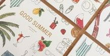 Coloring Book Good Summer / Coloring book for adults - DIY Watercolor illustrations