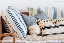 Pillows & Fabric / pillows, fabrics, textures, patterns